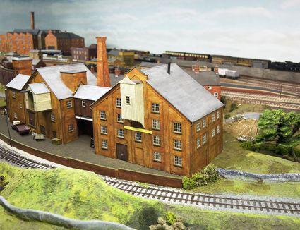 Model railway, warehouse