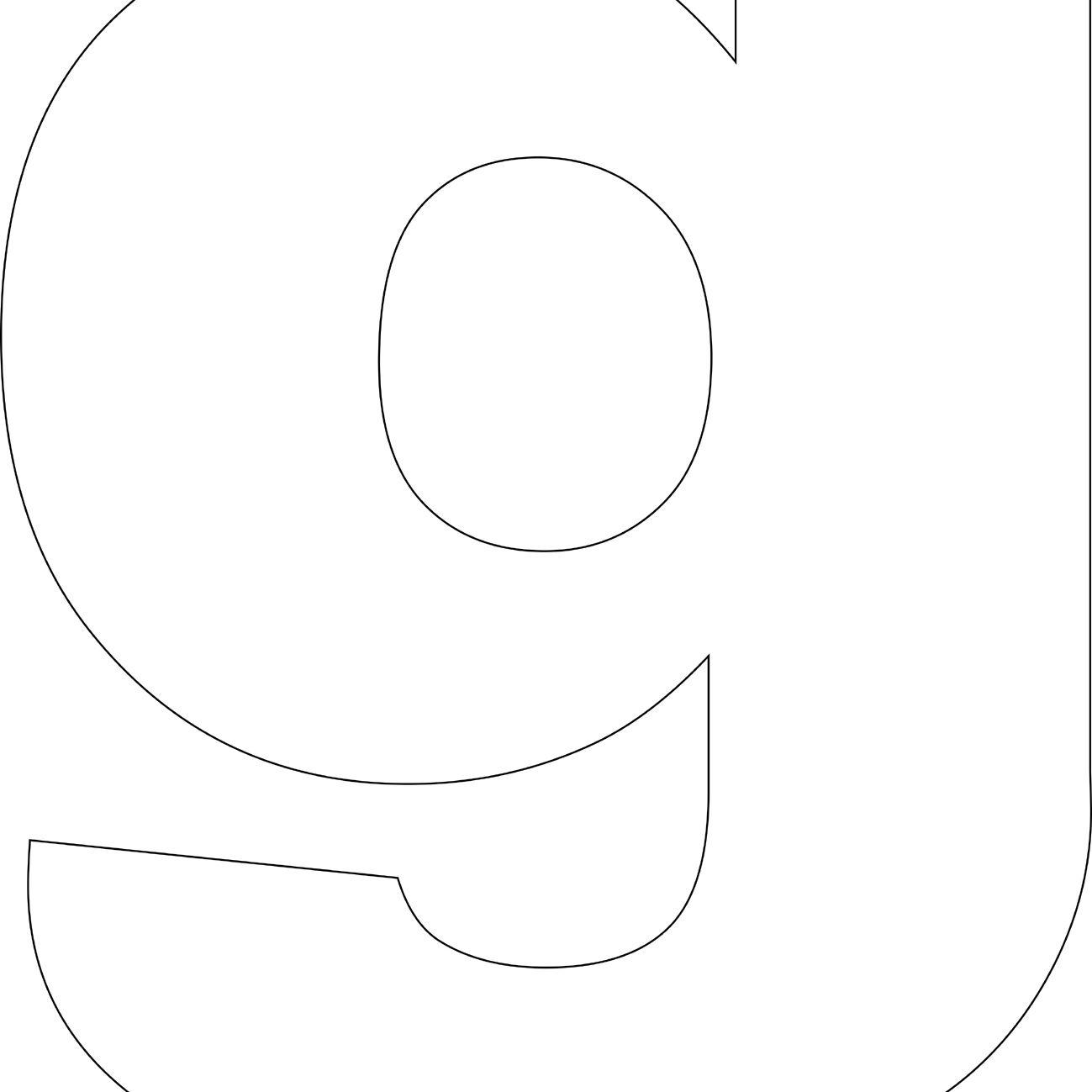 Free Printable 'g' Template