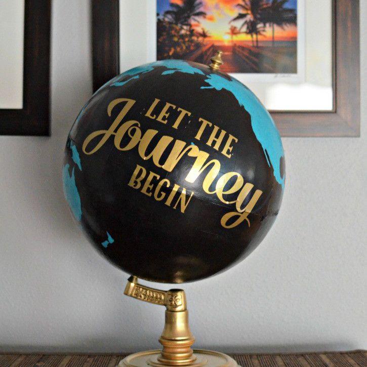 DIY Thrift Store Painted Globe