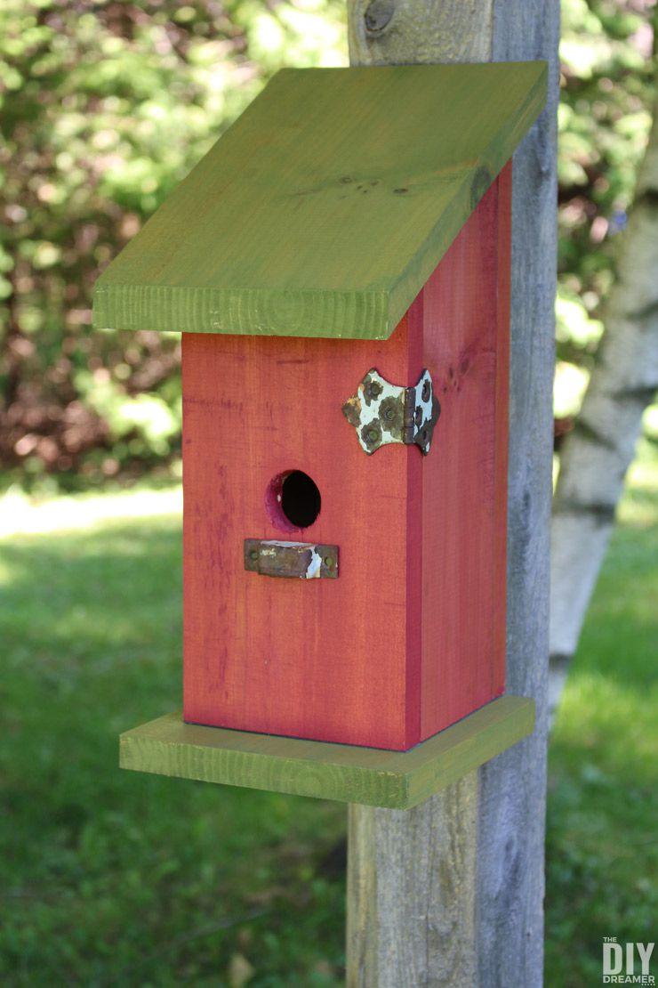 15 DIY Birdhouse Plans and Ideas Pokie Dotted Mini Bird Houses Designs on