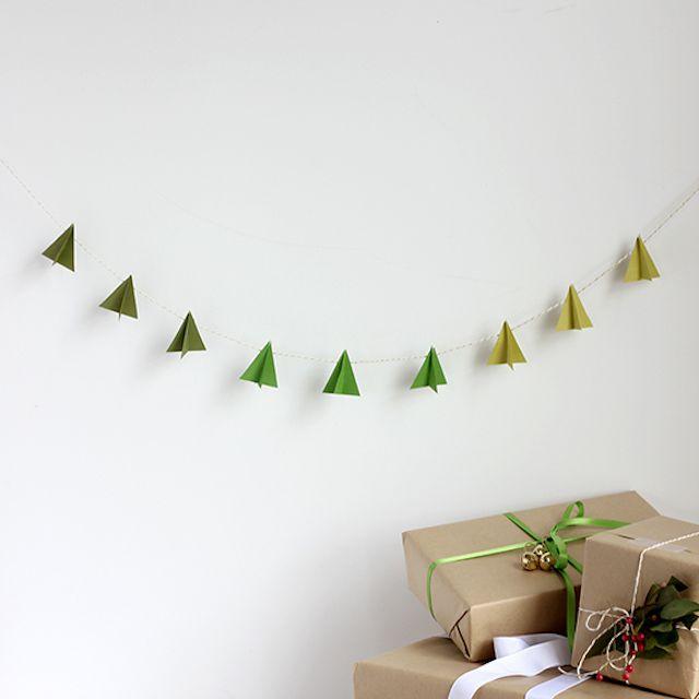 DIY: Modern Paper-Tree Garland
