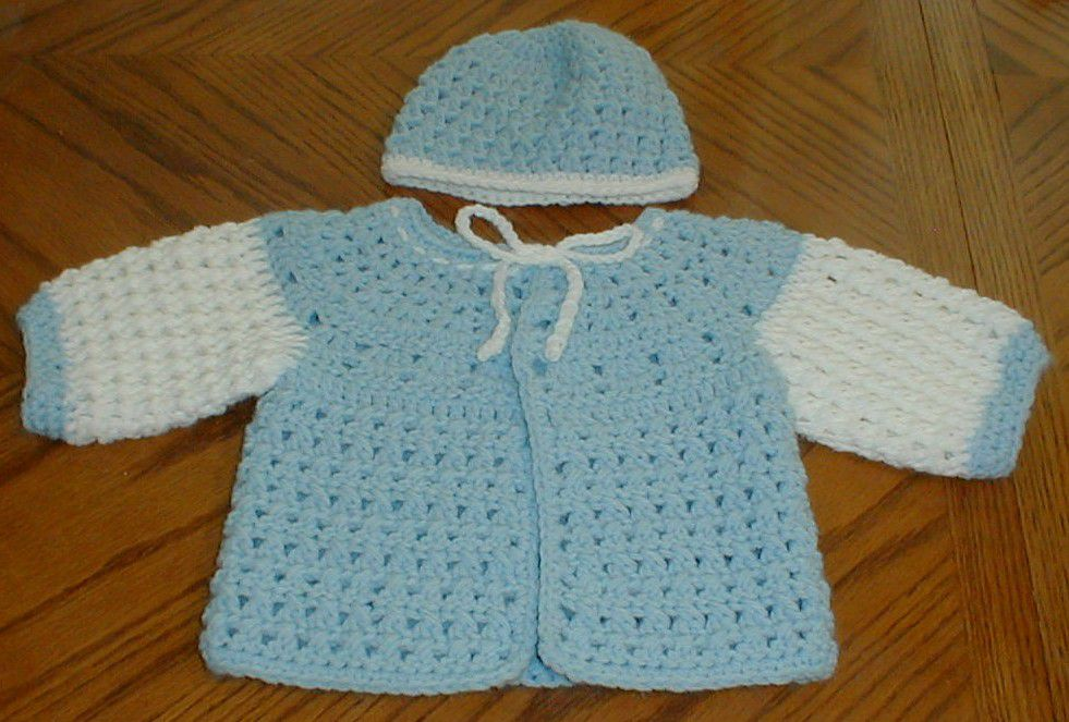 1acdcd50b 15 Free Baby Sweater Crochet Patterns