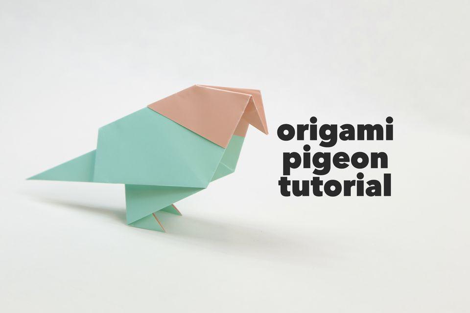 origami pigeon tutorial