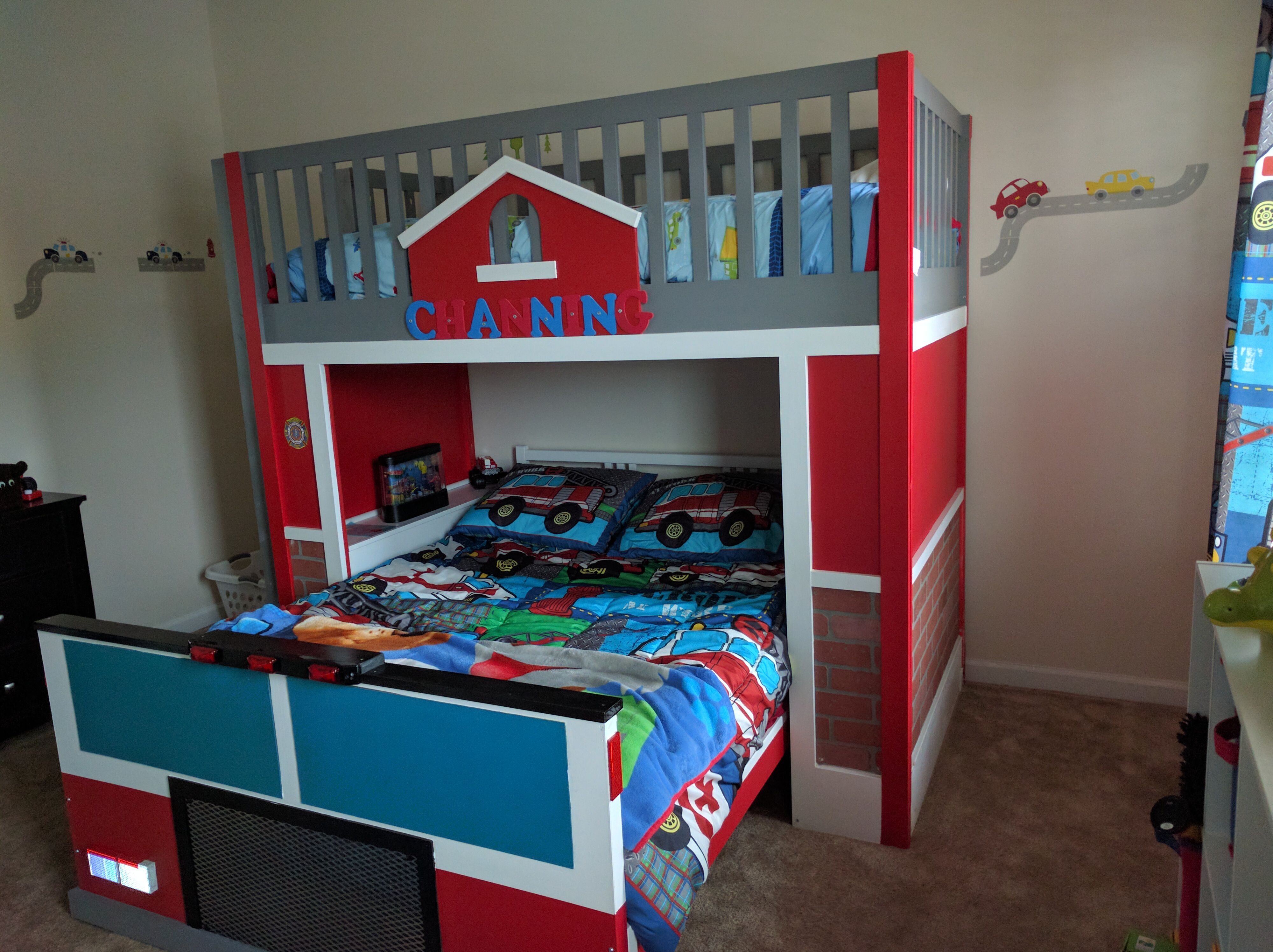 15 Free Diy Loft Bed Plans For Kids And Adults Pdf Cool Electronic Projects Download Computer Desk Blueprints A Firetruck