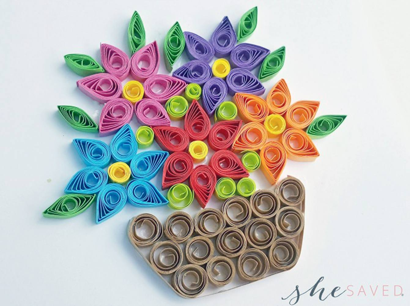 Paper Quilling Flower Basket Flowers Healthy