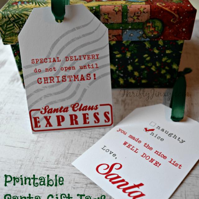 santa printable gift tags