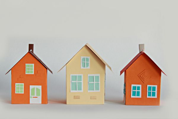 Three paper house