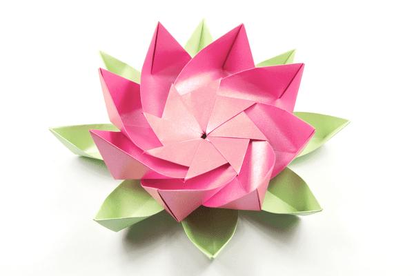 modular origami lotus