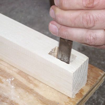 Cleaning the Mortise