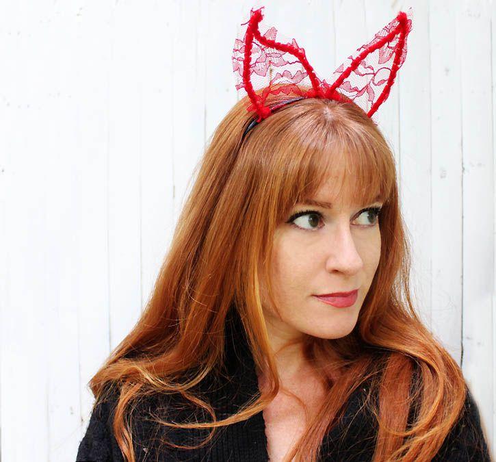 lace devil horns