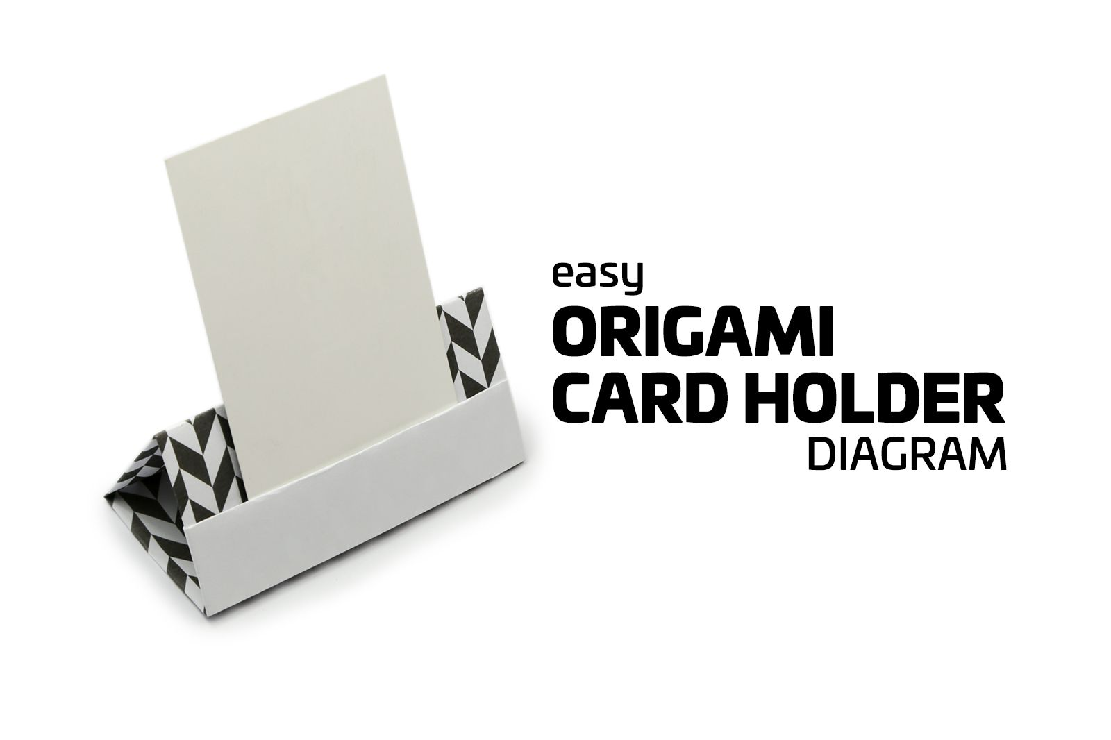 Make An Easy Origami Card Stand