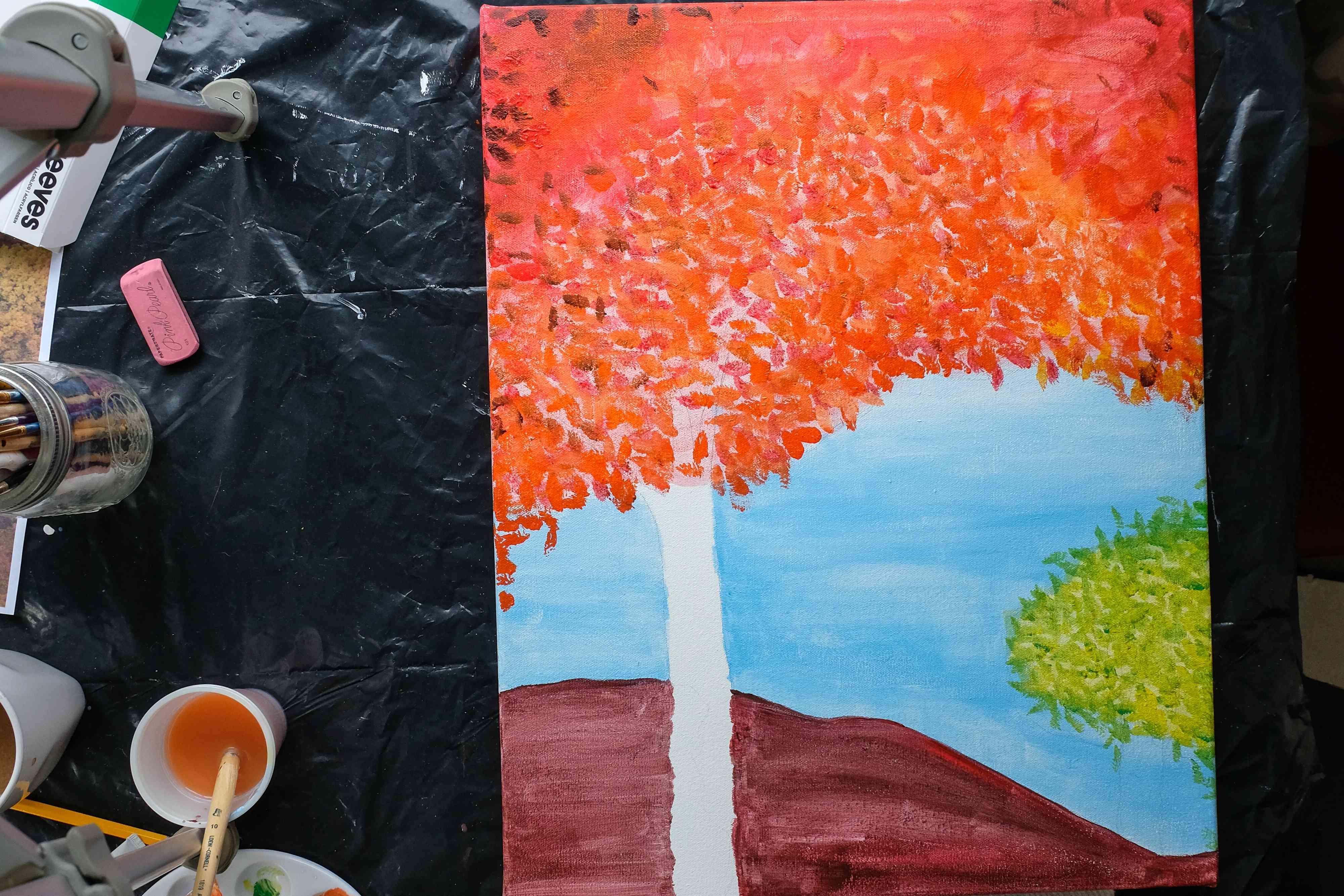 fall painting diy step 3