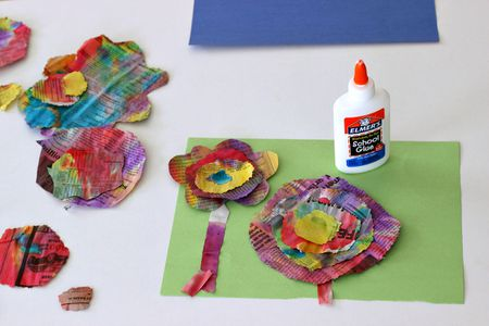 Recycled Newspaper Flower Craft For Kids