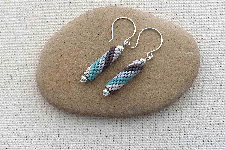 Spiral Tube Bead Earrings