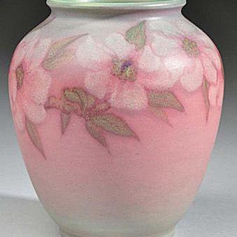 Rookwood Vellum Floral Vase By Artist Sara Sax