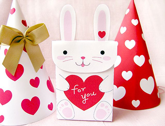 valentine's day printable craft bag for kids