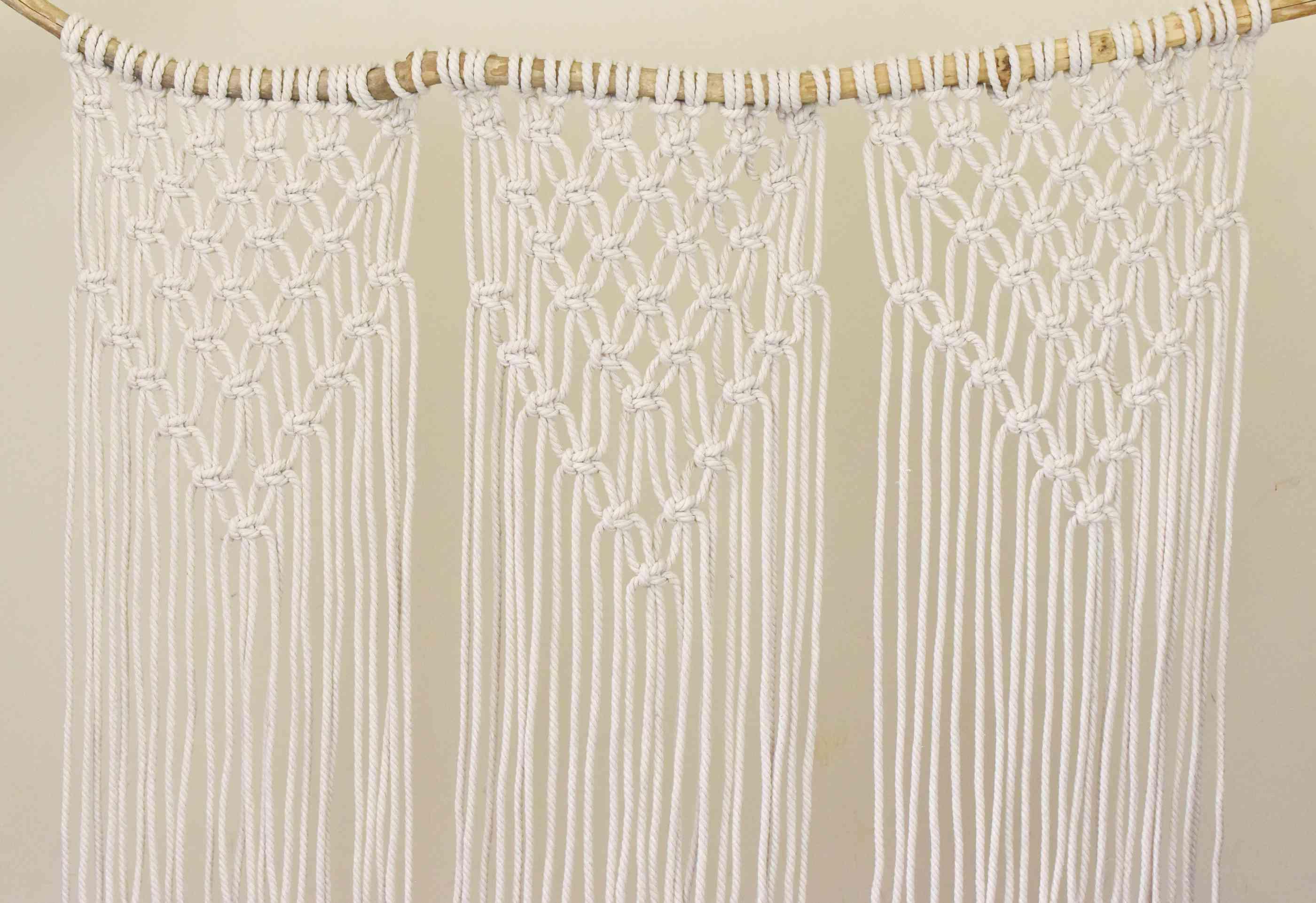 DIY Macrame Curtain on a Branch