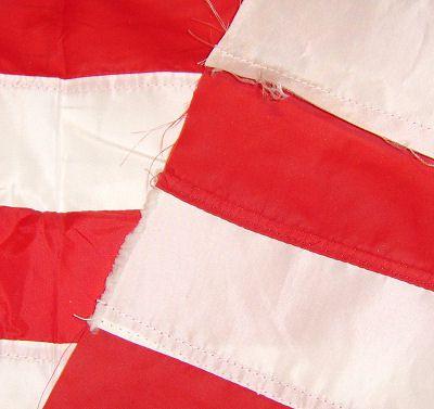 American flag seam details