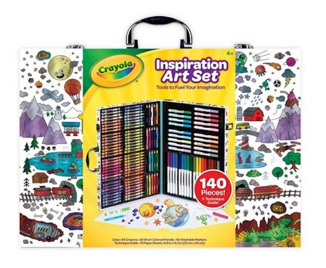 Crayola 140pc Inspiration Art Set with Case