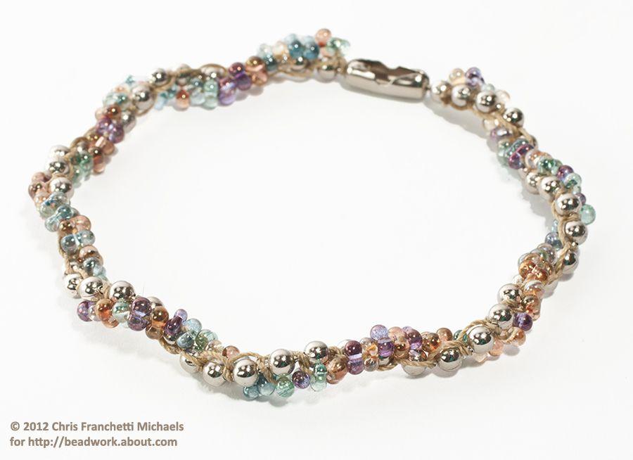 Spiral rope macramé bracelet