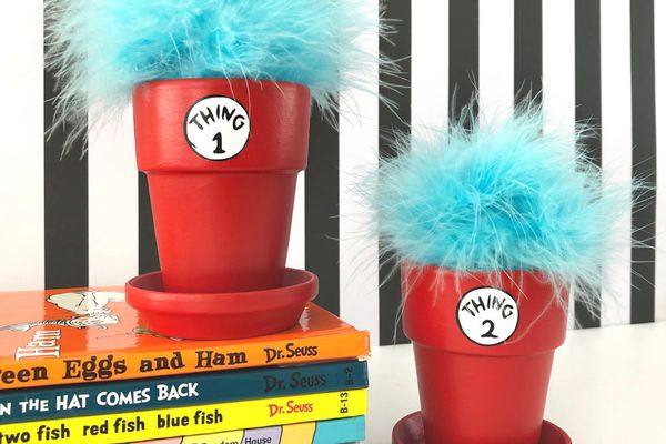 Thing 1 and Thing 2 Flower Pots