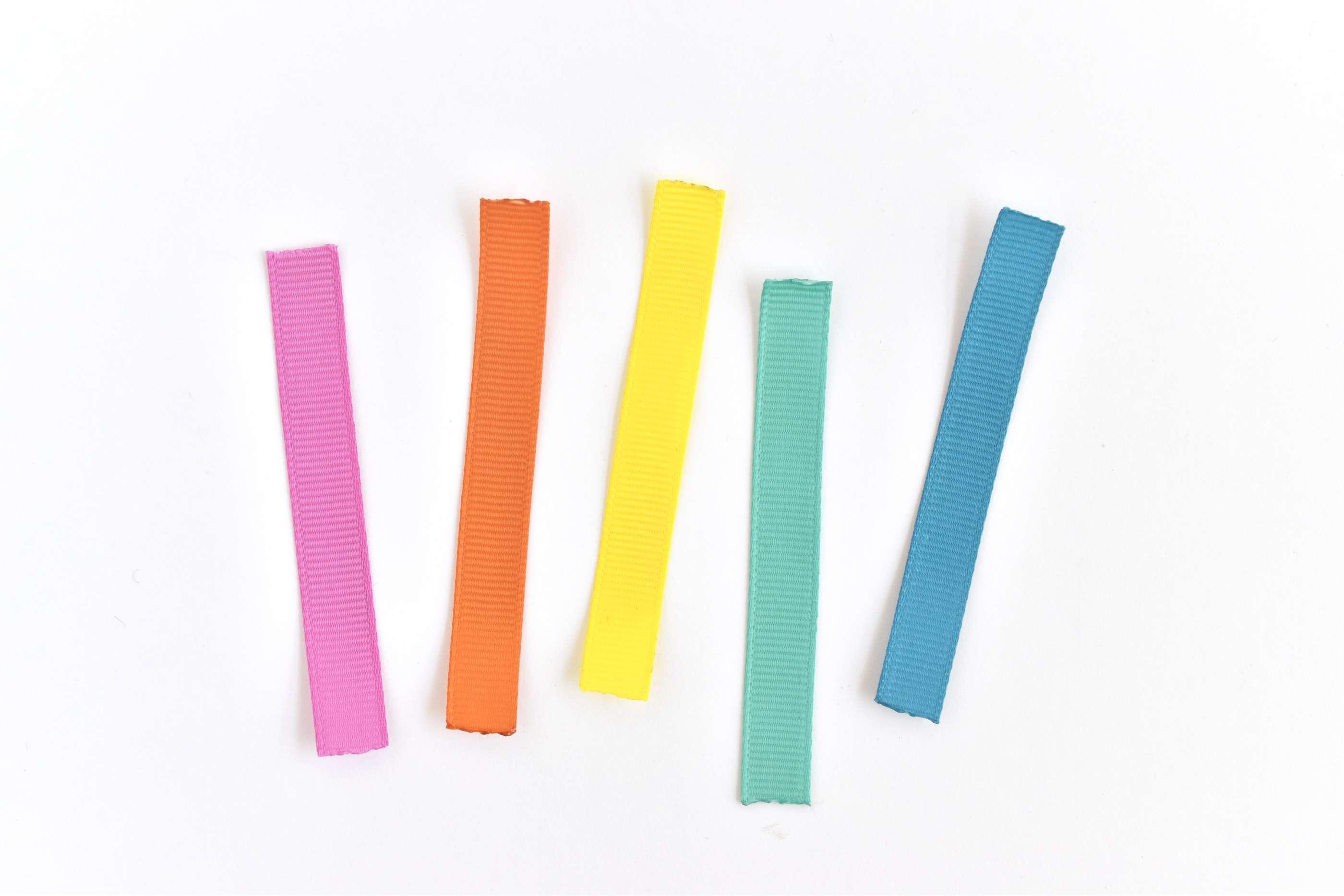 Cut Strips of Ribbon