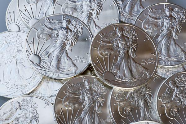 Silver american eagle coins
