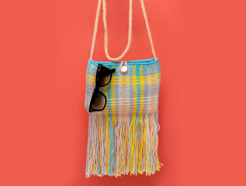 Fun Fringed Bag Knitting Pattern