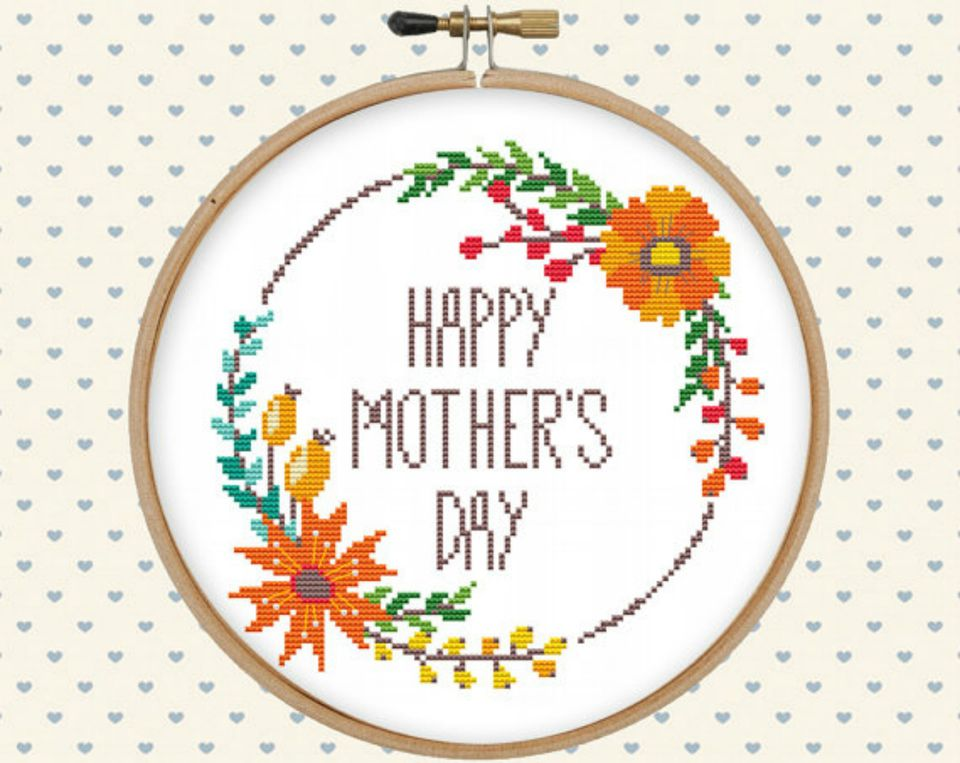 Gentle Feather mother's day cross stitch