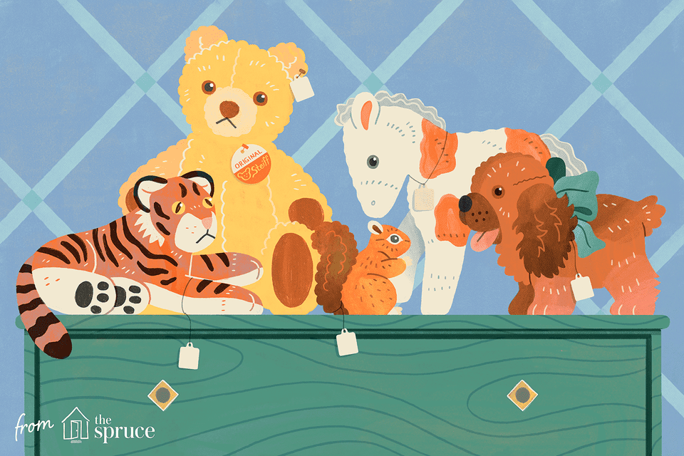 Illustration of stuffed animals