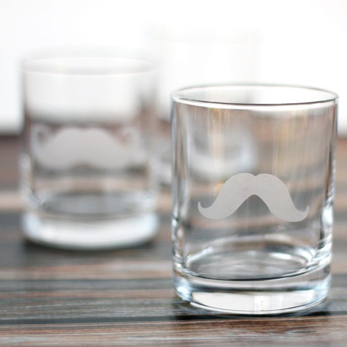 DIY Mustache Glass