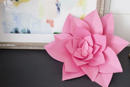 How to make large paper flowers mightylinksfo