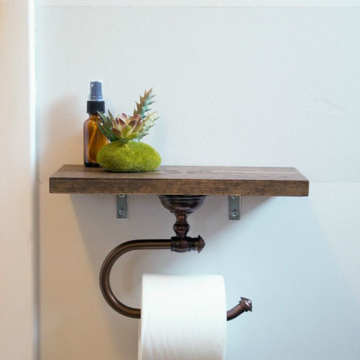 DIY bathroom projects toilet paper holder