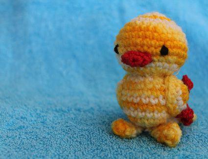 Miniature crochet duck