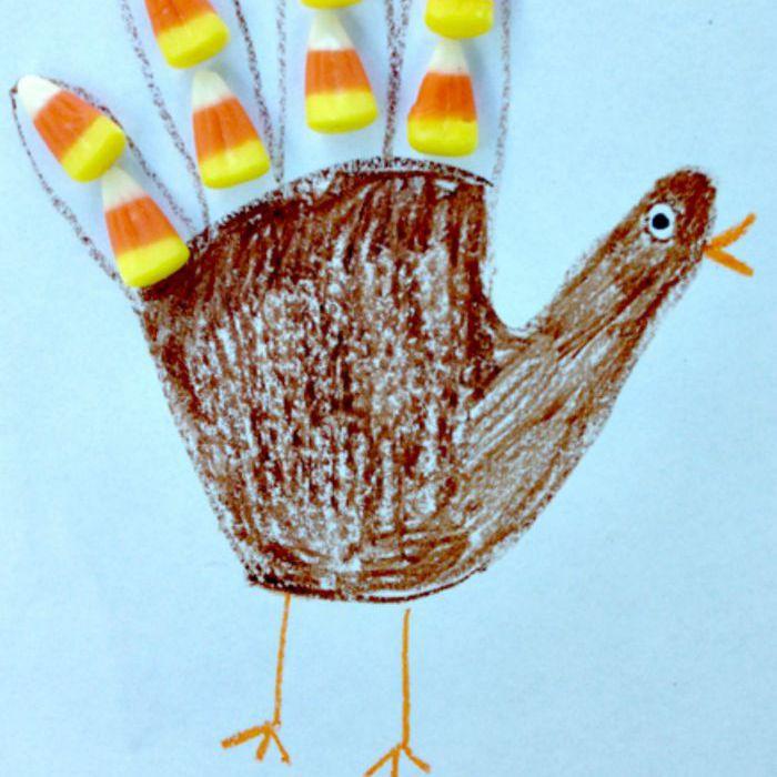 Preschool thanksgiving turkey craft