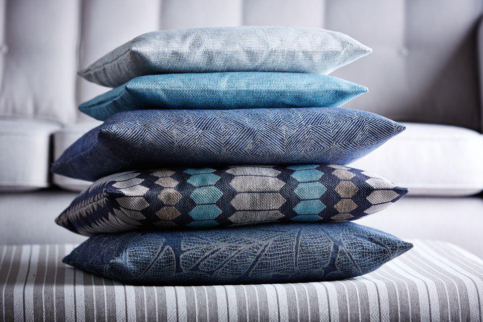 Multi-colored pillows