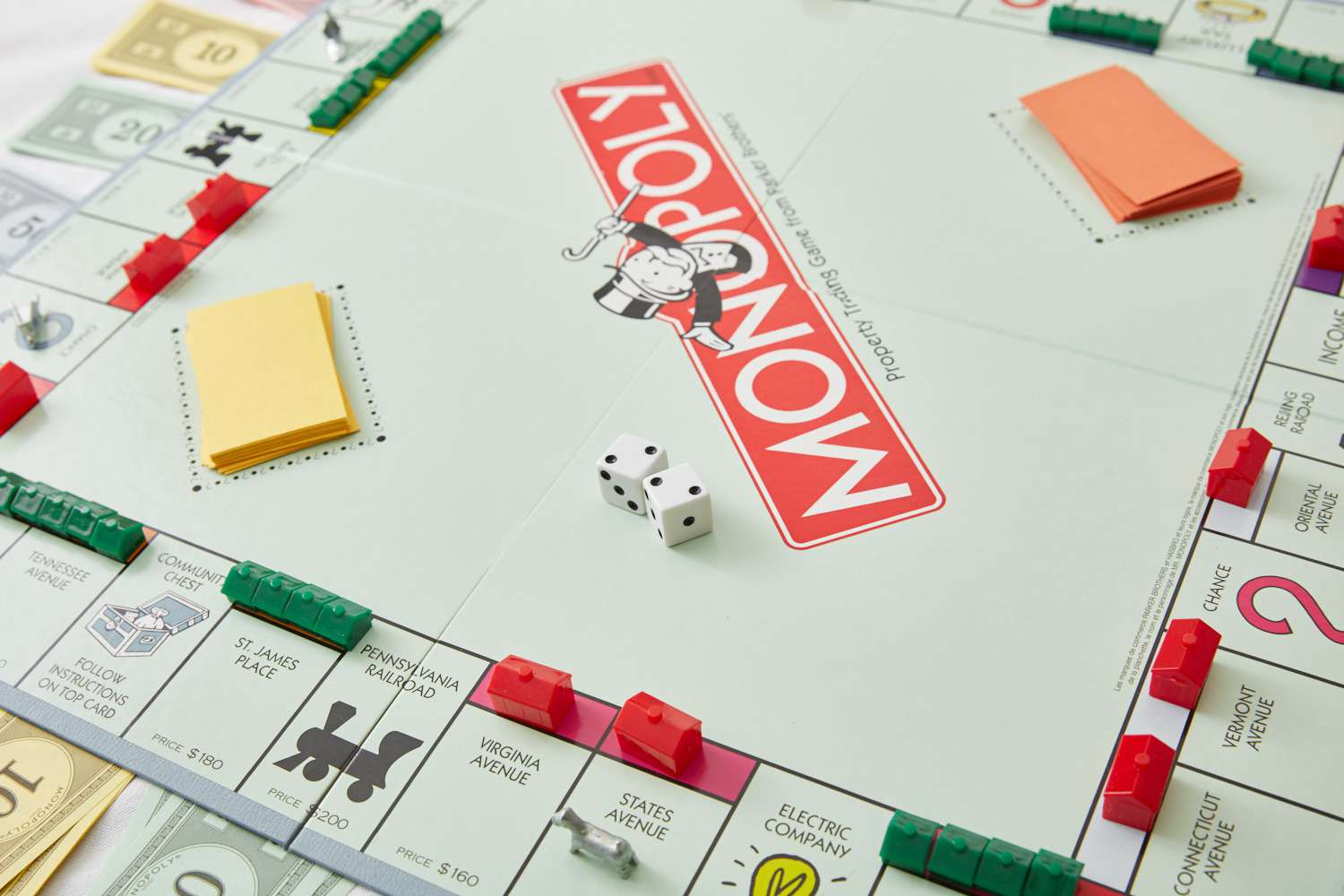 Monopoly house and hotel board pieces