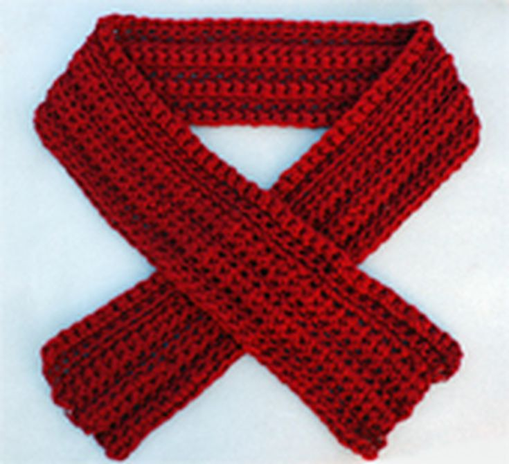 Easy Thick And Thin Crochet Scarf Free Pattern