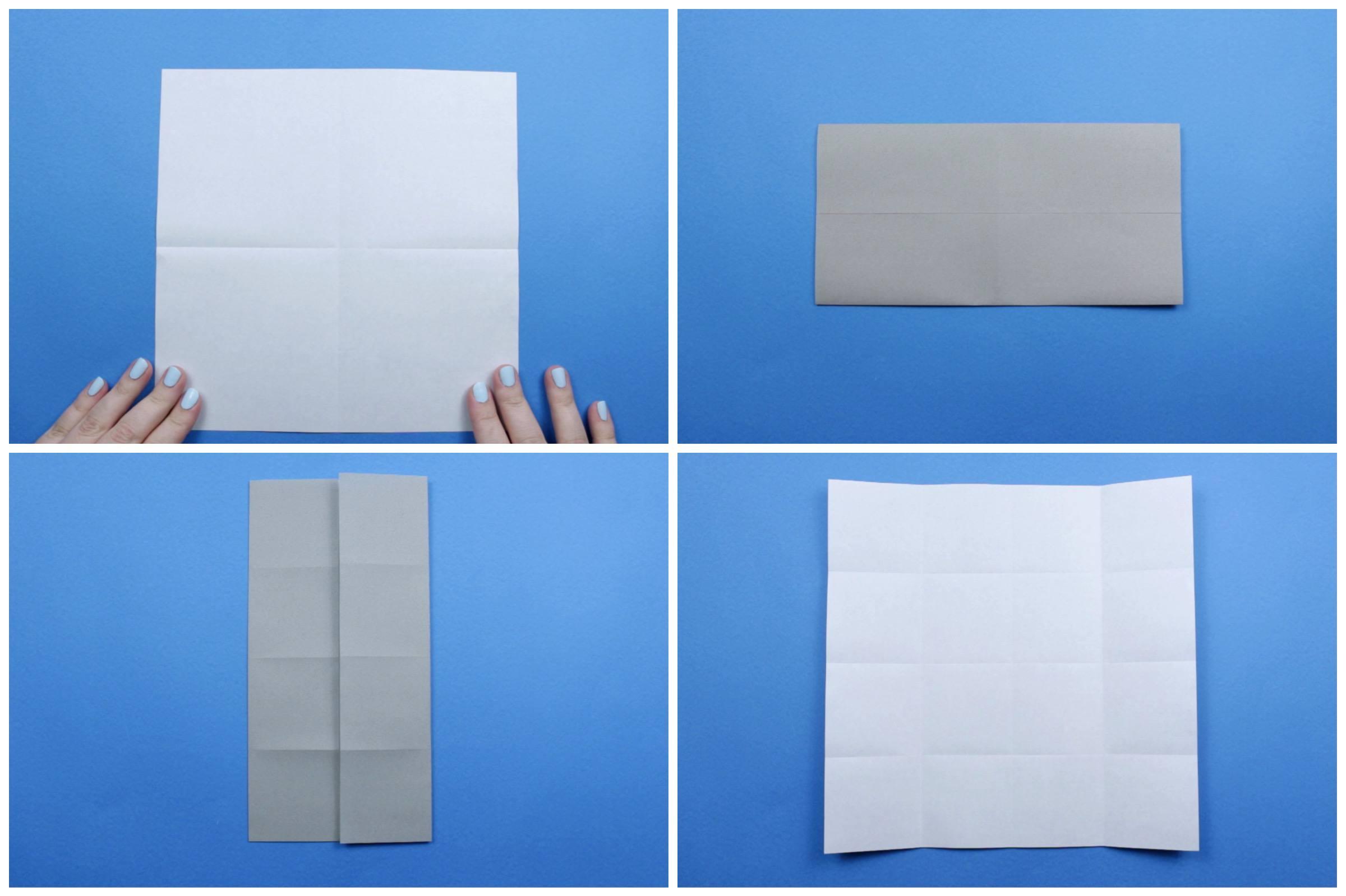 Origami elephant tutorial step one