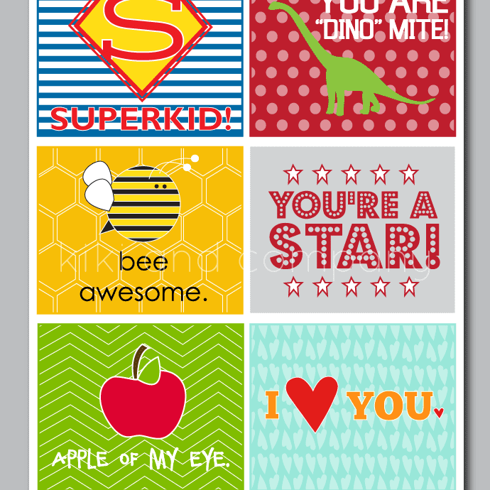 a set of colorful lunch box notes