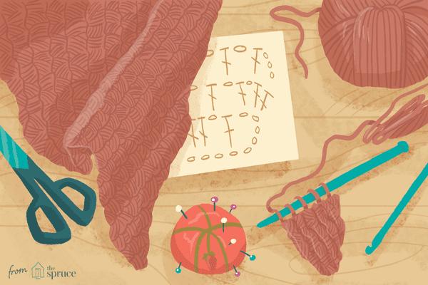 Illustration of a crochet shawl