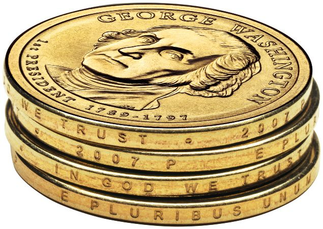 Edge Design on the Presidential Dollar Coin