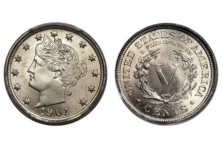 Liberty Head Nickel V 1901 Uncirculated