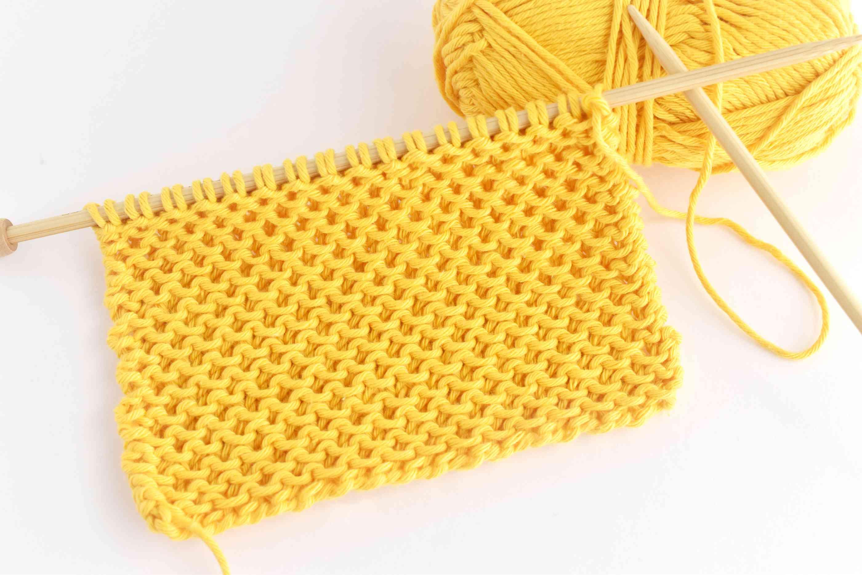 Honeycomb Stitch Knitting Sample