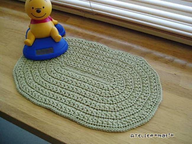 Star Stitch Oval Doily Free Crochet Pattern