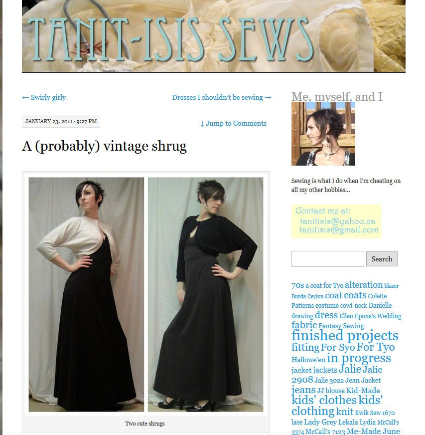Free Shrug, Bolero and Short Women\'s Jacket Sewing Patterns