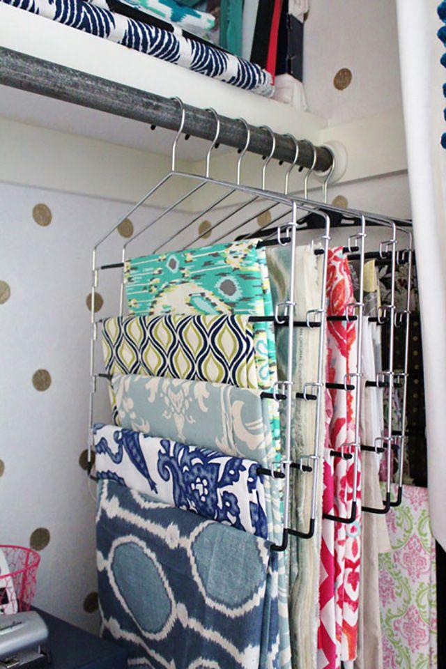 fabric on hangers