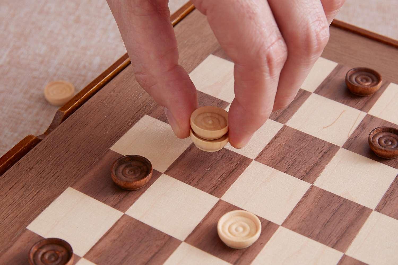 a kinged checker piece