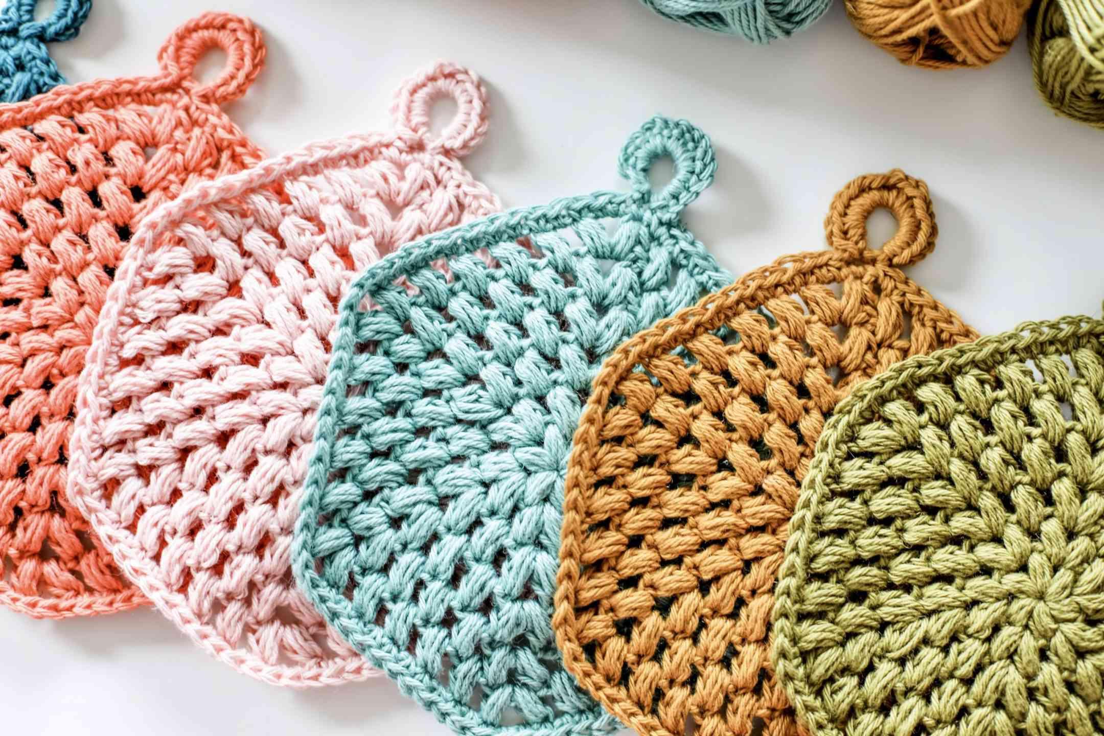 Hexi-Puff Trivet Crochet Pattern