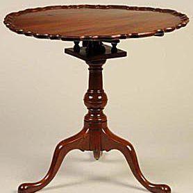 Ca. Mid-18th Century American Mahogany Tea Table